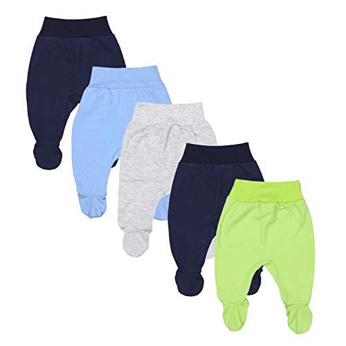 TupTam Baby Jungen Strampelhose mit Fuß 5er Pack, Farbe: Farbenmix 1, Größe: 62