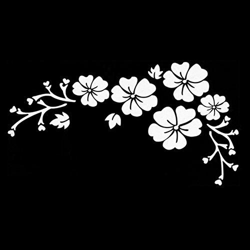 Etiquetas engomadas multicolores Paquete de etiquetas engomadas de la flor Etiqueta delicada del coche Grabado Patrón de flores Etiqueta engomada del coche 30 * 14 CM Etiqueta impermeable Impermeable