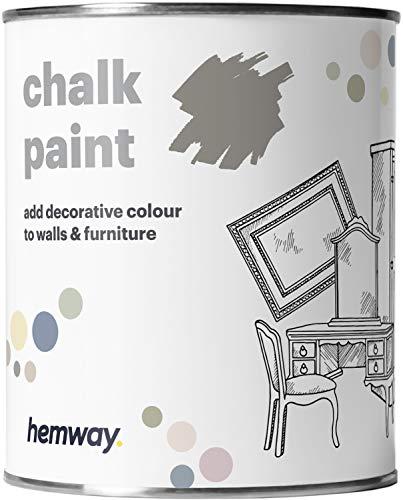 Hemway Old Stone Grey Kreidefarbe, matt, Wand- und Möbelfarbe, 1 l, Shabby Chic, Vintage, Chalky (50+ Farben erhältlich)