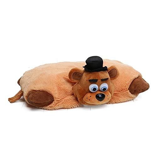 Juantin Store Stuffed Animal Five Nights at Freddy's Toy 43cm30cm FNAF Pillow Mangle Foxy Chica Bonnie Golden Freddy Fazbear Plush Toys Cushion juguetes-Brown