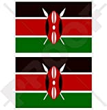 Kenia kenianische Flagge, East Afrika 10,2cm (100mm) Bumper Sticker, Aufkleber Vinyl X2