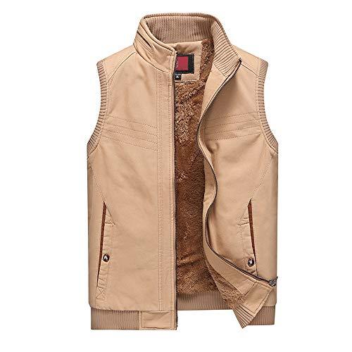Heren Fleece Vest Casual Slim Waistcoat Katoen Mouwloos Jas Colete Masculino Man Dikke Warm Vest