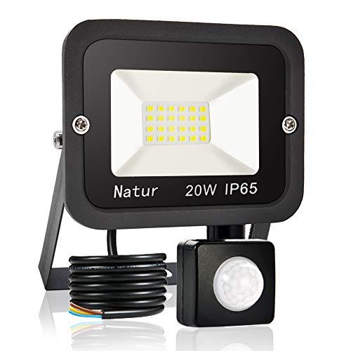 bapro 20W Faretto LED da Esterno con Sensore di Movimento,bianco caldo 3000K Faretto led da esterno Led floodlight, IP65 Impermeabile, per Parcheggio, Ingresso, Corridoio, Garage…