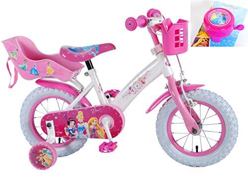 Disney Kinderfahrrad Princess 12 Zoll mit Rücktrittbremse und Fahrradklingel
