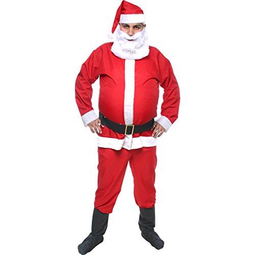 Fantasia Papai Noel Adulto Sulamericana Fantasias Vermelho/Branco GG 50/52