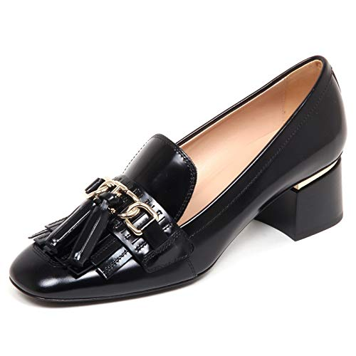 F6886 Decollete Donna Black Tod'S Scarpe Leather Shoe Woman [38.5]