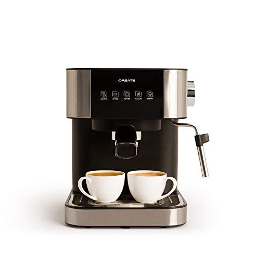 IKOHS Create Cafetera Expresso Automática Thera Stylance Pro - Cafetera Espress para Espresso y Cappuccino, 20 Bares, 1100 W, 1,5 litros, Vaporizador Orientable, Doble Salida, Regulador de Presión