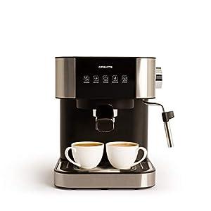 CREATE Cafetera Expresso Automática Thera Stylance Pro - Cafetera Espress para Espresso y Cappuccino, 20 Bares, 1100 W, 1,5 litros, Vaporizador Orientable, Doble Salida, Regulador de Presión