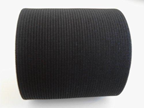 New Year Deal!!! 6-Inch Wide Black Heavy Knit High Elasticity Stretch Elastic 2 Yards by Prolastic