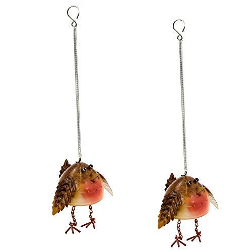 east2eden Hanging Metal Robin on Spring Wind Ornament Garden Decoration (2)