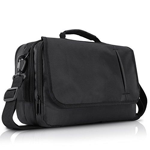 NAVISKAUTO 10 Zoll Schultertasche Henkeltasche Tasche für Dual Tragbare DVD Player Monitore Tablets Schwarz MB002B