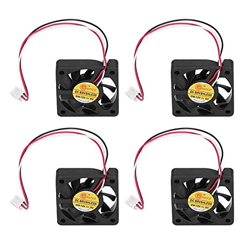 Ventilador de disipación de calor 4 piezas Mini radiador Overclock Conexión de cable Ventilador de refrigeración silencioso