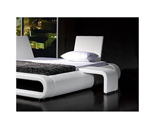 SAM Nachtkommode Rondo in weiß, Nachttisch passend zum Bett futuristisches Design