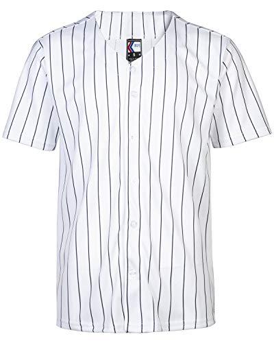 Ultra Game NBA Mens Mesh Button Down Baseball Jersey Tee Shirt
