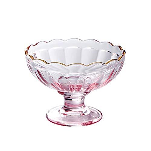 WxberG 7 onzas – Cuencos de helado de cristal, tazas de Sundae, cuencos de ensalada de frutas, cuencos de postre, vasos de parfait, vasos y elegantes (color: tipo 3)