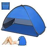 Carpa de playa, zootop Carpa de playa emergente para 1-2 personas, Carpa de playa portátil Refugio para el sol con soporte para teléfono y bolsa de almacenamiento, para Cámping (27.56*19.69*17.72in)