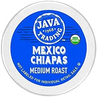 Java Trading Company Organic Single Serve Cups 100% Organic Arabica Coffee, Mexico Chiapas, 10 Count