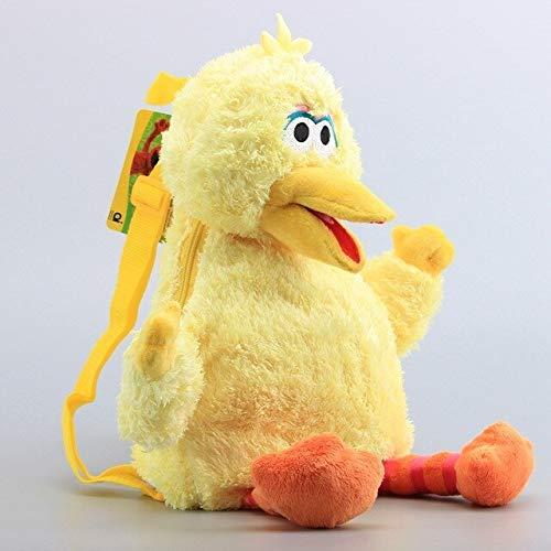 45 cm große Sesamstraße Schultasche Baumwolle Plüsch Cartoon Puppe Elmo Big Bird CookieMonster niedlicher Rucksack Kinder Geburtstagsgeschenk