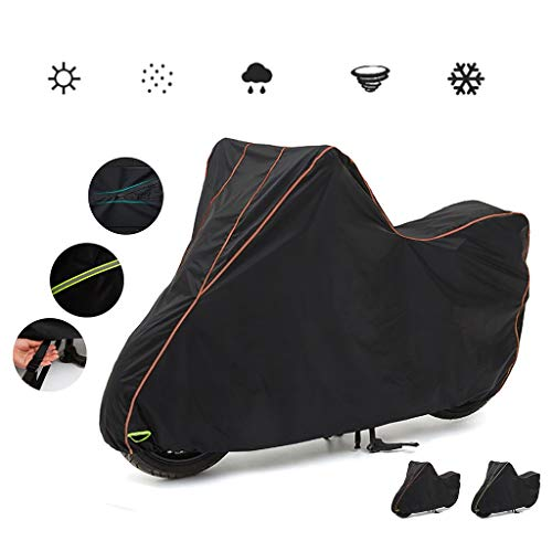 Compatibel met Motorhoes held Puch, 200D nylon oxford stof waterproof zonnebrandcrème scratch proof motor cover/fiets afdekking (Color : C, Size : S(180 * 89 * 122CM))