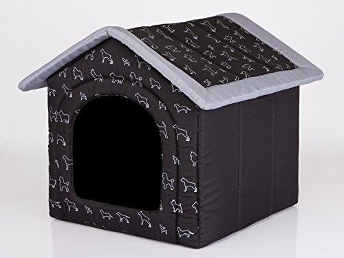 Hobbydog R2 BUDCWP14 R2, 44 x 38 cm, Tissu de codura Durable, résistant aux Rayures, EU-Produit, S, Noir, 700 g