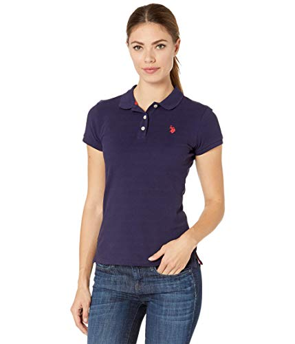 U.S. Polo Assn. Solid OPP Polo Evening Blue/Racing Red LG