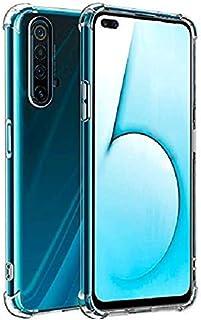 Amagav Transparent Realme X3 Silicone Soft Mobile Phone Back Case Cover Compatible for Realme X3