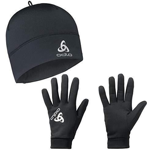 Odlo Polyknit Mütze und Stretchfleece Liner Warm Handschuhe M