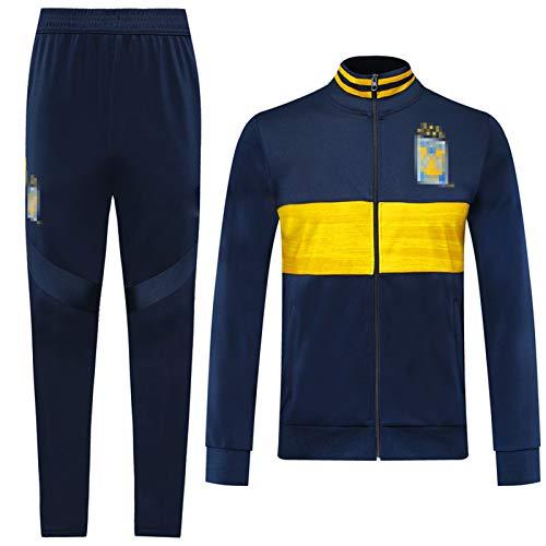 TǐGRěs Football Training Jersey Soccer Trainingsanzug und Hosen Set Sportbekleidung, Schnell trockener Langarm Komfortabel, Erwachsene Männer Outdoor Training Geburt XL