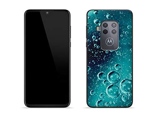 etuo Hülle für Motorola One Zoom - Hülle Foto Hülle - Tröpfchen Handyhülle Schutzhülle Etui Hülle Cover Tasche für Handy