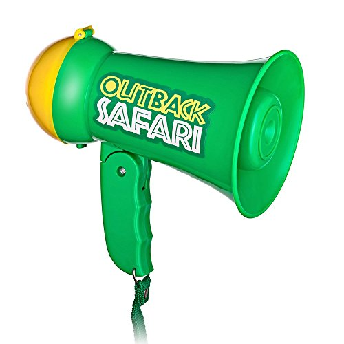 Dress Up America Pretend Play Kids Safari Outback Megaphone with Siren Sound - Handheld Mic Toy