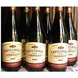 カビッキオーリ ランブルスコ ロッソ ドルチェ (イタリア 甘口 デイリー赤泡ワイン) 6本セット