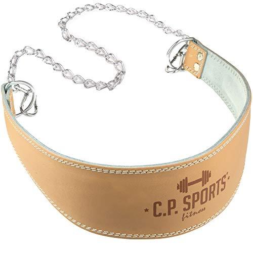 C.P. Sports 38757 Ceinture de confort en cuir, rembourrée, pour les dips, Crème, Taille unique