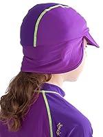 Ultrakidz - Cuffia da Piscina, per Bambini, con Visiera e Protezione per Collo, prtezione UV (50+), Rosa (Rosa), Taglia Unica #4