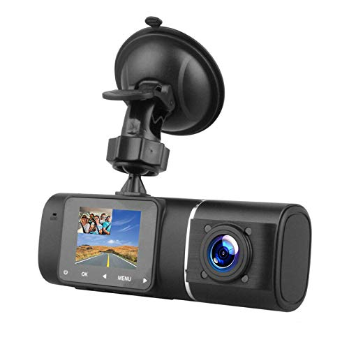 ROGF Dash Cam1080P Coche DVR Lente Dual Frontal Interior Dash CAM 170 ° G-Sensor IR Visión Nocturna HDcámara Inalámbrica