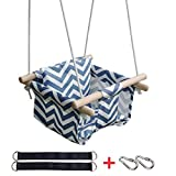 KINSPORY Toddler Baby Hanging Swing Seat Secure Canvas Hammock Chair with Soft Backrest