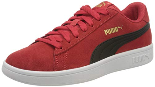 PUMA Unisex-Erwachsene Smash V2 Sneaker, High Risk Redpuma Black Team Gold, 43 EU