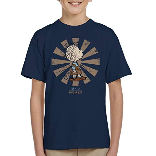 Pig Pen Retro Japanese Peanuts Kid's T-Shirt
