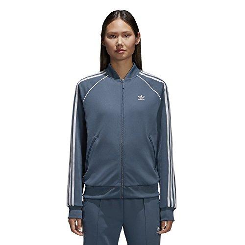 adidas Originals Damen Superstar Tracktop Jacke, Dark Steel, X-Klein