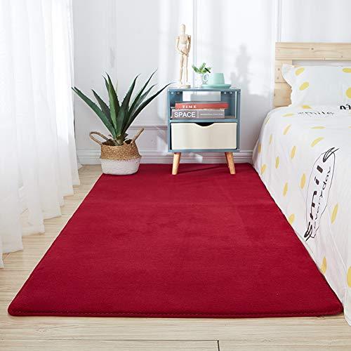 TCpick Área Shaggy Rugs For Living Room,Oval Fuffy Shag Alfombra Pelo Largo Alfombras,Moderno Pelo Largo Soft Touch Alfombra-Carmesí 300x200cm