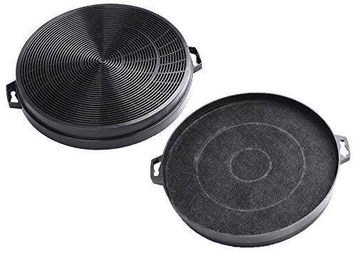 2 filtros de campana extractora de carbón compatible con AquaHouse para Constructa, Whirlpool FAC539 B210 CHF210, Zanussi extractora de cocina recirculación (CHF02W)