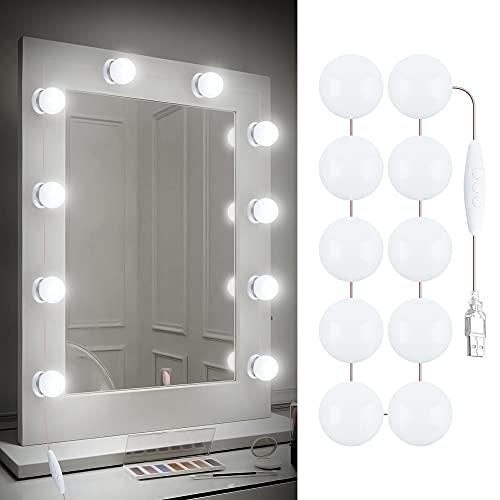 Redlemon Luces LED para Espejo de Maquillaje Autoadheribles, 3 Modos de Iluminación: Luz Blanca, Cálida y Neutral, con Control de Intensidad, Conexión USB, Longitud Ajustable,...