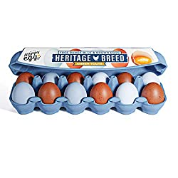 The Happy Egg Co. Heritage Breed Blue and Brown Free Range Grade A Large Eggs, 12 ct (1 dozen)