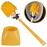 Mobi Lock Cepillo de Inodoro de Donald Trump - Limpiador de Taza para el hogar,...