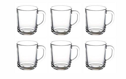 Topkapi - Glasbecher Teeglas mit Henkel Bahar, 6er Set, II. Wahl