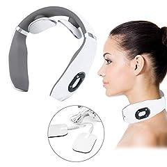 Intelligent nackmassage, nackmassage, elektrisk puls hals massager, smart massageapparat, elektro magnetisk puls nackmassage med värmefunktion Lämplig för hemmet