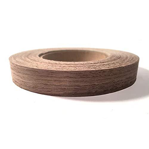 Wonepic Cinta Cantos de PVC Flexible de Madera del Grano 0.78in 50m Rollo de Chapa de Madera Franja de Borde pre-encolar el Hierro Encendido Hot Melt Adhesivo para Madera Flexible Lijado