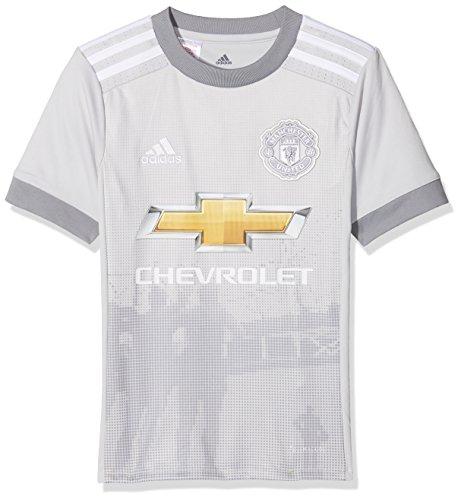 adidas MUFC 3 JSY Y Camiseta 3ª Equipación Manchester United 2017-2018, niños, Gris (grpulg/Blanco), 140
