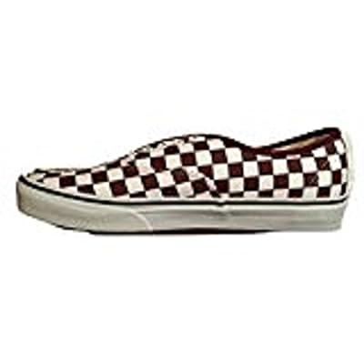 Vans Authentic Checkerboard Unisex Port Royale Red True White Skateboarding Shoes (10 B(M) US Women/8.5 D(M) US Men)