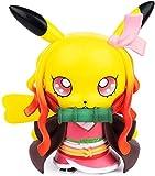 Demon Slayer Figures Sword Pikachu Cosplay Agatsuma Zenitsu Figure Statues Kimetsu no Yaiba Collection Birthday Gifts PVC 4' (Kamado Nezuko)
