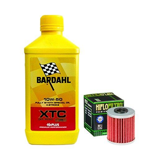 Kit tagliando Bardahl XTC C60 10W50 Off-Road filtro olio Kawasaki KX 250/450 F